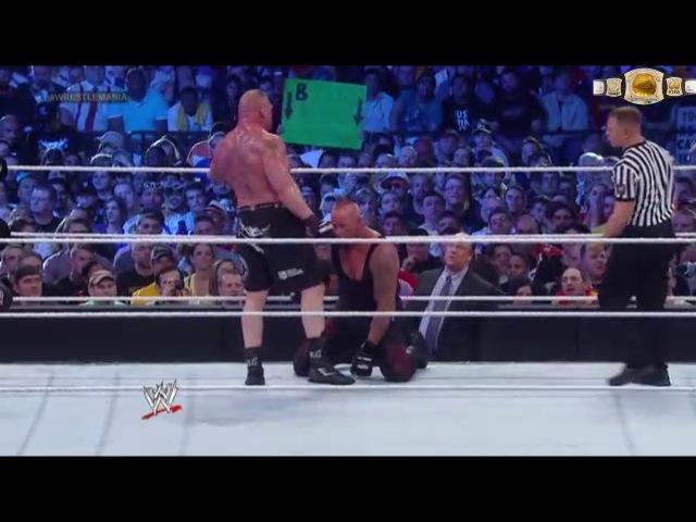 WWE Wrestlemania 30 : Undertaker vs Brock Lesnar