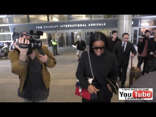 Kelly Rowland arriving at LAX Airport in Los Angeles