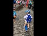 Детский карнавал. С другом Мишей