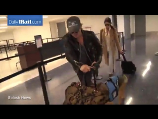 Ian Somerhalder and Nikki Reed jet out of LAX
