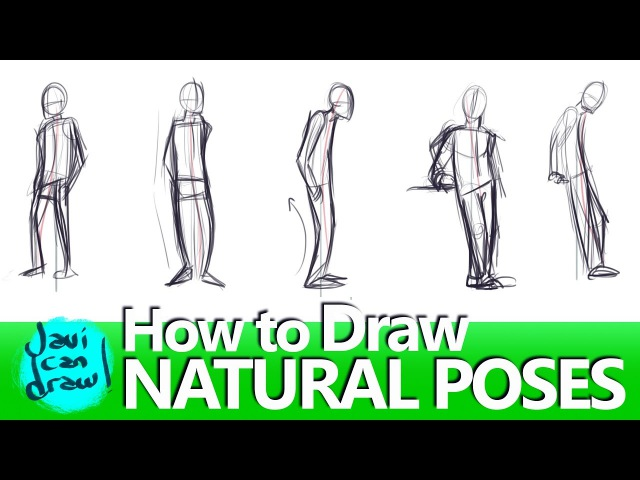 IS THIS HOW YOU DRAW NATURAL STANDING POSES?