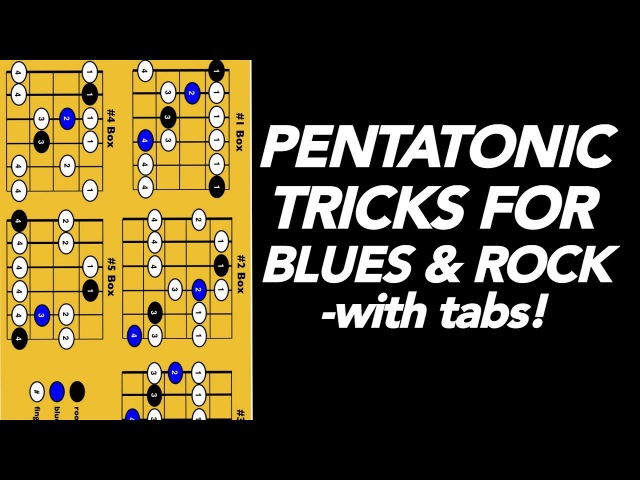 Pentatonic Tricks for Blues and Rock guitar lesson video (with tabs)