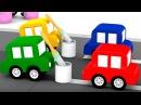 Мультики для детей 4 машинки и авария на дороге.