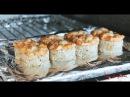 Мастер класс от CafeCalifornia Запеченный ролл с лососем в кунжуте