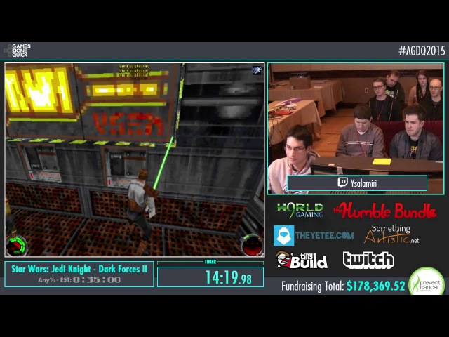 AGDQ 2015 Star Wars: Jedi Knight - Dark Forces II Speed Run in 0:29:31 by ysalamiri AGDQ2015