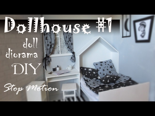 DIY: Dollhouse1 How to make room for doll Stop Motion Pullip