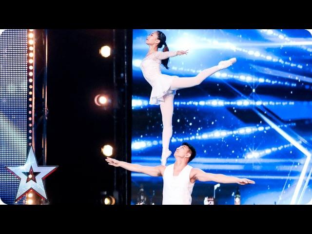 Gao Lin Liu Xin stun with their elegant acrobatics | Auditions Week 2 | Britain's Got Talent 2017