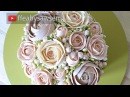 Beautiful Bouquets 4/5: Bridal silk domed buttercream flower bouquet cake tutorial step by step
