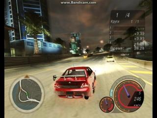 Need For Speed Unerground 2(Тройной форсаж, Mitsubishi Lancer Evo 8)
