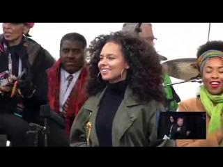 Alicia Keys at the Women's March on Washington