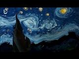 Звёздная ночь Ван Гога, нарисованная на воде (эбру)