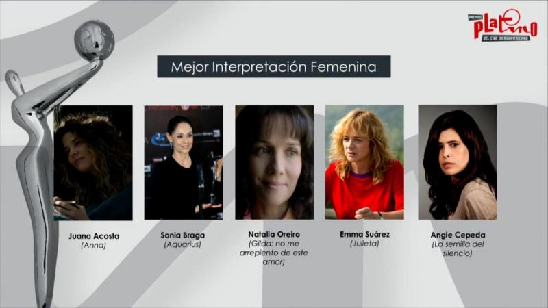 Los nominados al Premios Platino 2017