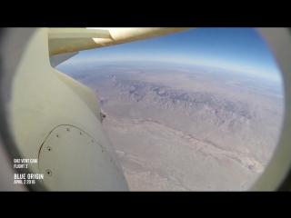 Видео приземления с бортовой камеры ракеты Blue Origin 2/04/2016