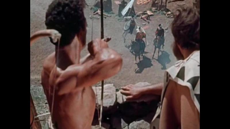 Принцесса Канарская (1954). Финальная битва между испанцами и гуанчами