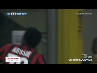 Милан - Университатя 2:0. Обзор матча. Квалификация Лиги Европы.