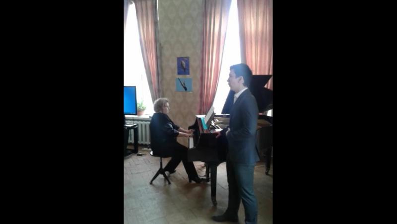 Ф.Шуберт. К музыке.(исп . А. Родионов, концертмейстер И.В. Павлова