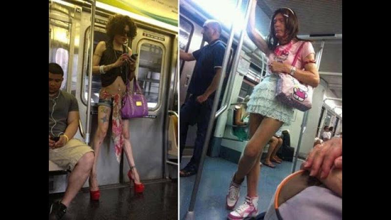 Чудики и идиоты в метро