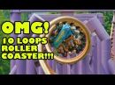*CRAZY* 10 Loop Roller Coaster Front Seat POV Chimelong Paradise China