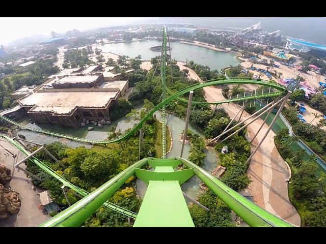 Parrot Coaster onride Mounted Go Pro in Middle 1080P 60FPS HD POV Chimelong Ocean Kingdom