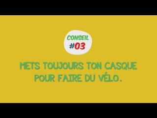Conseil03 - Mets toujours ton casque pour faire du vélo / Носи всегда шлем при езде на велосипеде