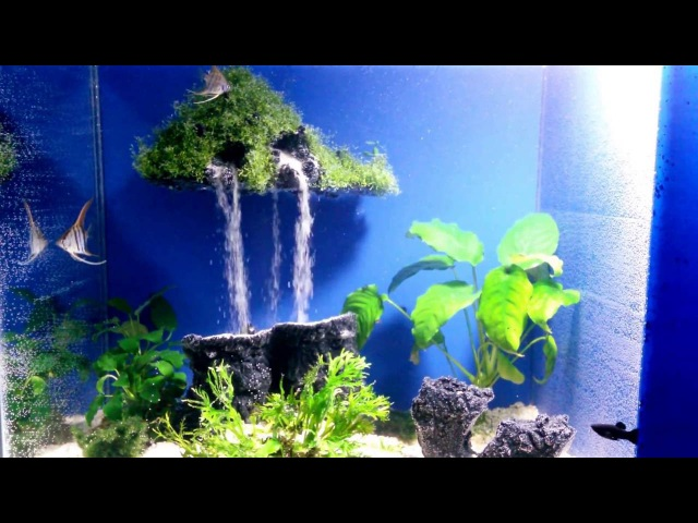 Aquarium sand waterfall 17 - Mysterious island-