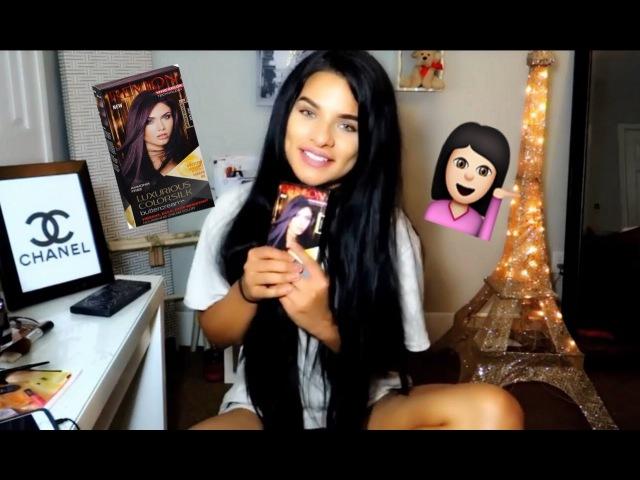 DYING MY HAIR REVLON Violet Black Review/Demo