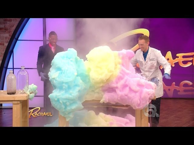 Exploding Foam Science on Rachael Ray with Jeff Vinokur Nick Cannon
