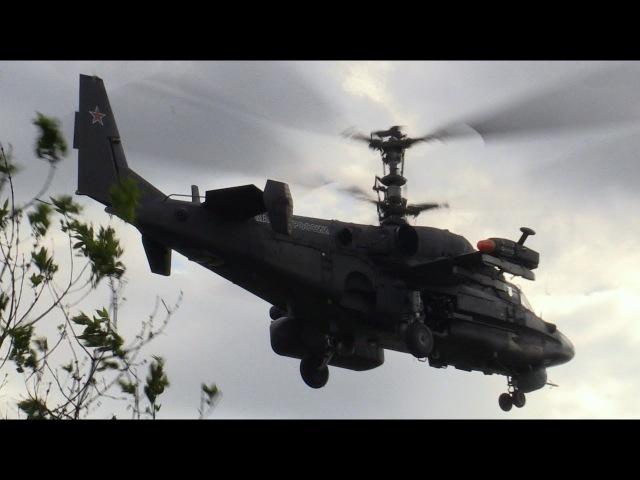 Геликоптерная установка Ка-50 и вертолет Ка-52 на ЛИКе