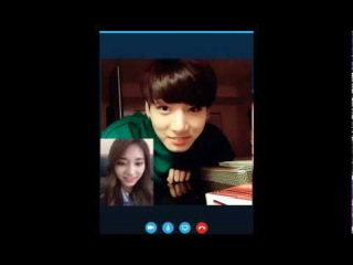 Jungkook BTS & Tzuyu TWICE [Fanmade] doing Video Call