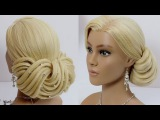Hairstyles for long hair tutorial. Wedding updo