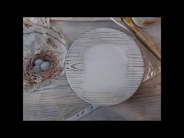 Мастер-класс Вживление салфетки в обожённую и брашированную поверхность