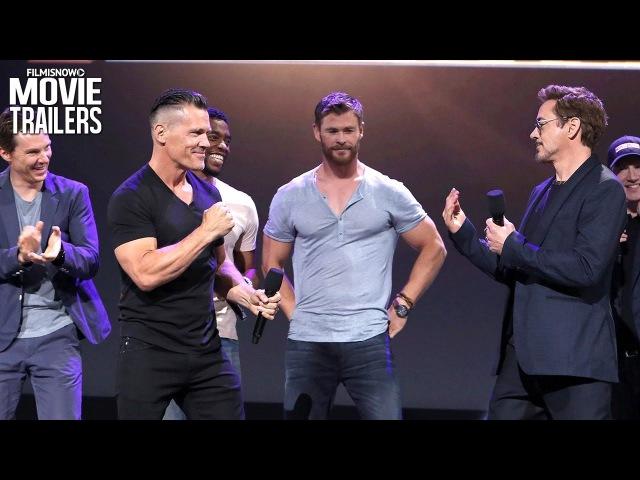 Avengers: Infinity War | Meet The Cast with Robert Downey Jr. Josh Brolin