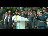 Построение учащихся Жас Улана и российских кадетов