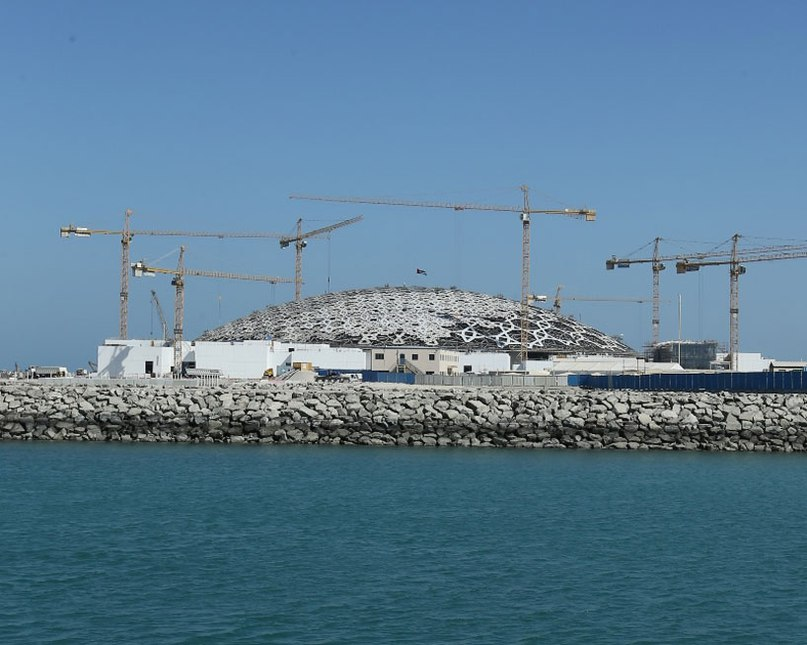 construction of jean nouvel's louvre abu dhabi well underway ADcity
