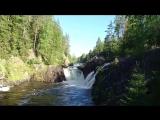 Водопад Кивач на реке Суна, Карелия