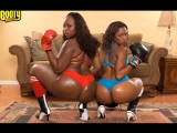 Bootylicious - Ms Juicy and Skyy Black (порно big ass tits bbw pawg chubby curvy)