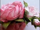 #Мастер_класс - #цветы #роза #из_фоамирана на резиночки для волос