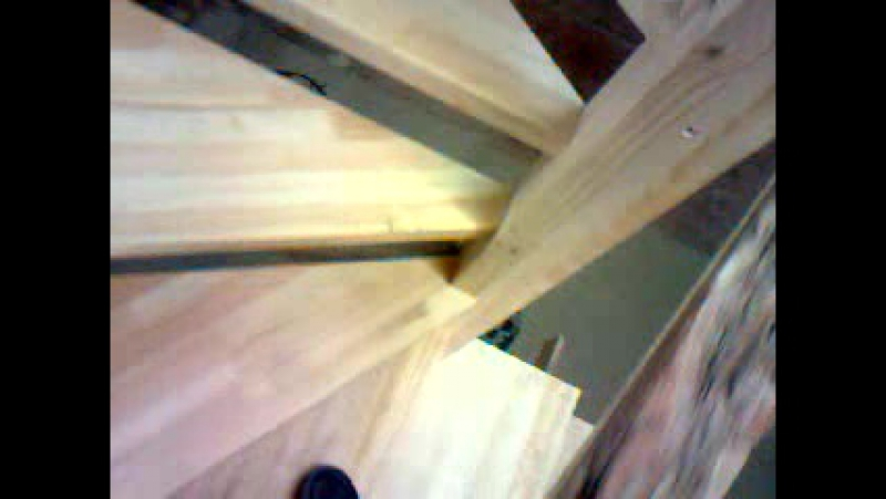 Лестница с винтовым элементом.