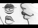 ♡ How to Draw Lips Front Side 3 4 View ♡