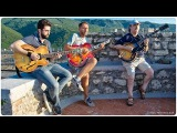 Eddy Palermo, William Stravato, Gabriele Cianfrani acoustic jam on the Top of the Castle