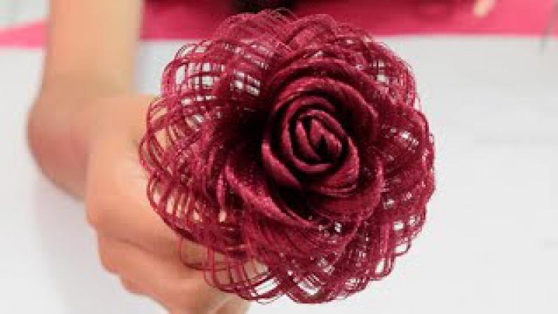 Como hacer una rosa de tela Rosa de tela Loveluzlop Fabric Flowers Roses Loveluzlop