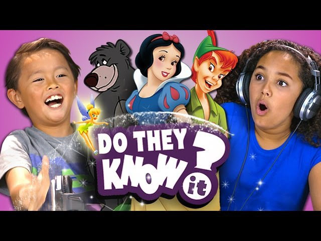 DO KIDS KNOW CLASSIC DISNEY SONGS (REACT Do They Know It)