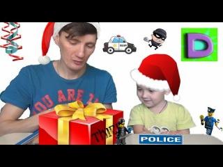 Лего полицейский отряд с собакой Распаковка Видео для детей Собираем конструкт...