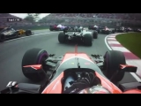 Best view of the madness in Montreal at the start From Stoffel Vandoorne's McLaren...