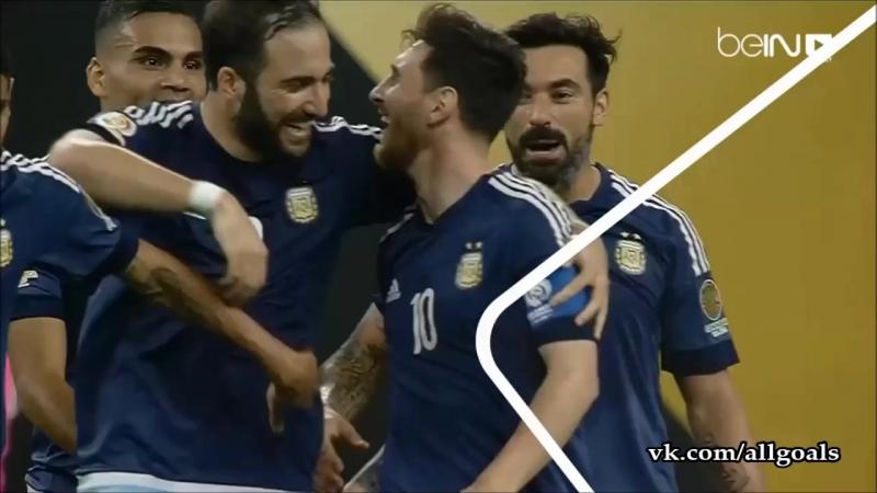 США - Аргентина / гол Месси