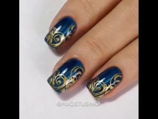 Классный рисунок на ногтях