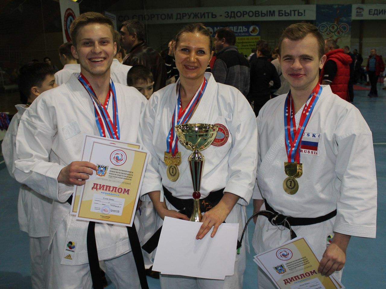 Таганрогские каратисты завоевали 37 медалей на Чемпионате и Первенстве Ростовской области