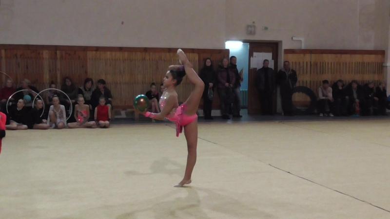 Требухова Женя, Донецк 2016, мяч