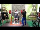 Луговой Александр Приседает 370 кг в однослойной экипировке на чемпионате Европы IPL 2017 год