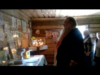 Сегодня прошел молебен в память Иова Ущельского часовне на месте монастыря